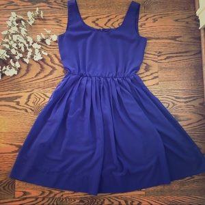 Calvin Klein Purple A Line Dress Size 6 W/ Pockets